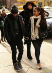 Jai Brooks and Ariana Grande out and about in the city in NYC