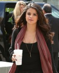 Selena Gomez arrives at NBC/Universal after hitting up Chick-fil-A
