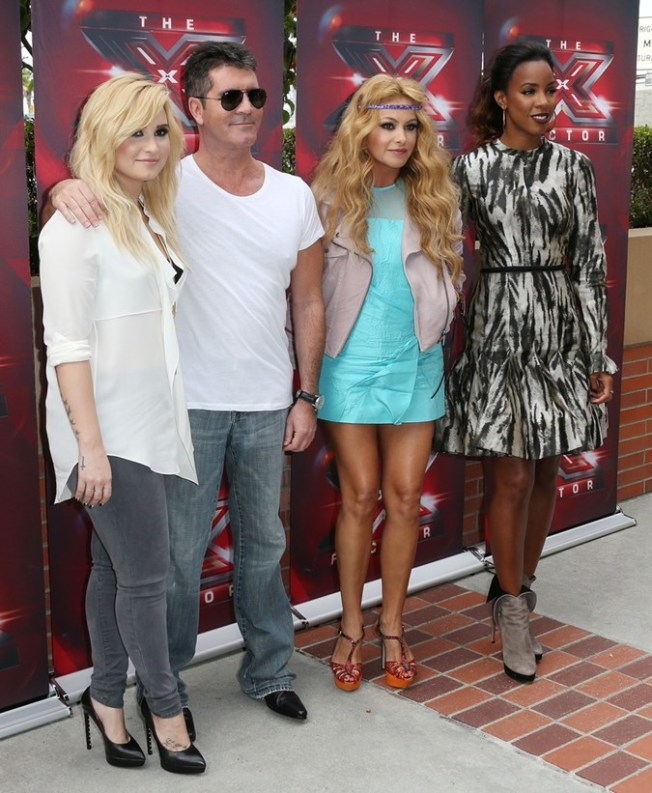 Demi+Lovato+Fox+X+Factor+Judges+Arrivals+FnJX6xXCFC9x